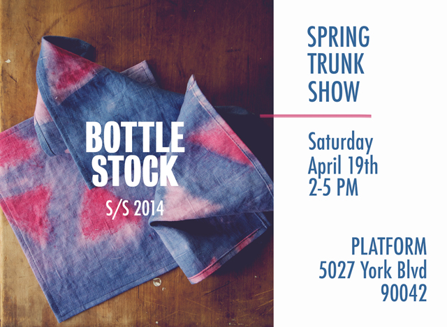 bottle stock spring trunk show